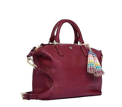 NWT TORY BURCH $495 SHIRAZ RED THEA SLOUCHY SATCHEL BAG