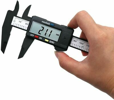 6150mm Carbon Lcd Fiber Electronic Digital Vernier Caliper Micrometer Guage Us