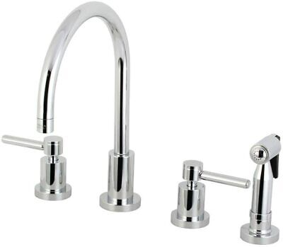 Kingston Brass Concord 8-Inch Widespread Kitchen Faucet, Polished Chrome NEW