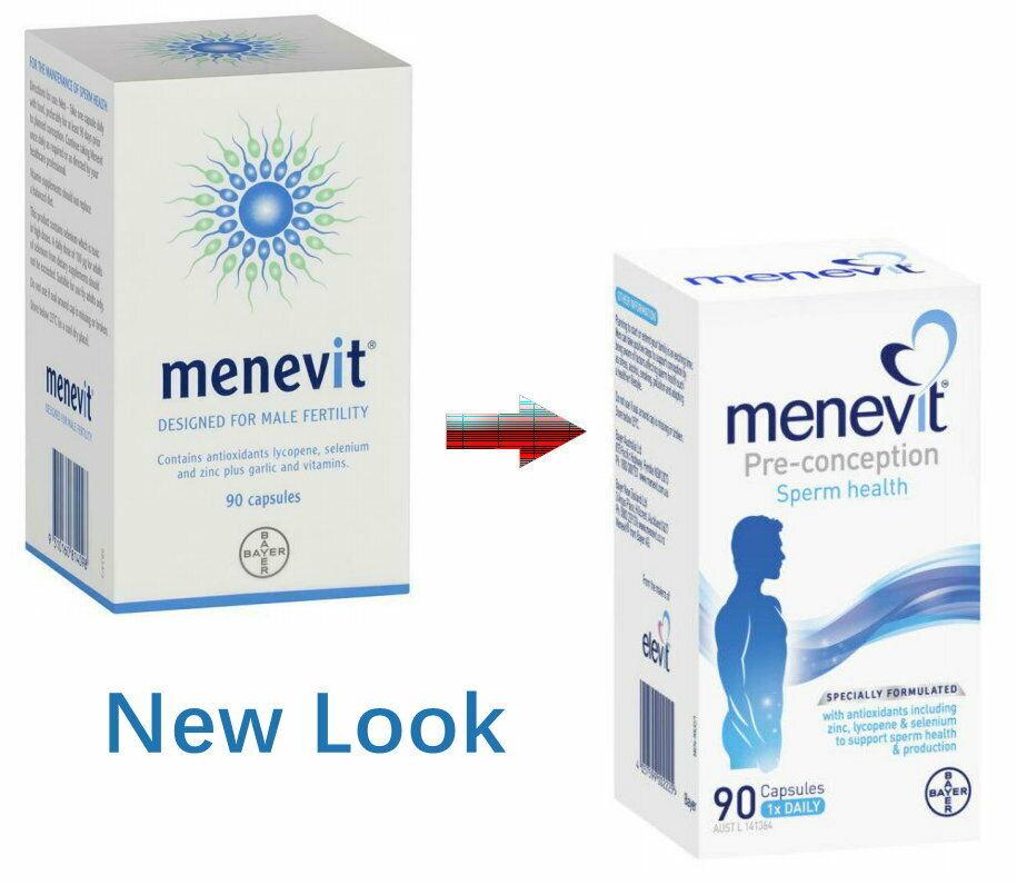 NEW Menevit 90 Capsules Male Fertility Supplement Pre-Conception Sperm Health 1