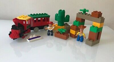 LEGO DUPLO Toy Story 3 - The Great Train Chase # 5659 Woody & Jessie HTF