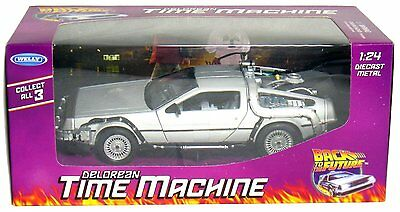 WELLY 1:24 DELOREAN TIME MACHINE BACK TO THE FUTURE PART 1 DIECAST MODEL - Back To Future