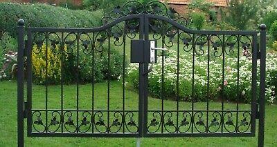 Garden Door Gates Metal Monaco-GT140/100S Galvanised With Stahlpfosten