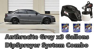 3 Gallons Anthracite Grey Performix Plasti Dip Dyc Dipsprayer Gun Bundle Kit