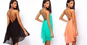 Ladies-Fashion-Floaty-Dress-Chiffon-Party-Wear-8-10-12-14