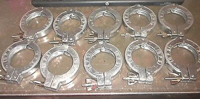Hps Tube Coupling Clamp Vacuum Laboratory Clamps Lot Of 10 Approx 3.5od Hh3