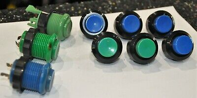 9 x Random Vintage Genuine Arcade Button for Jamma (Blue & Green) - See Photos segunda mano  Embacar hacia Spain