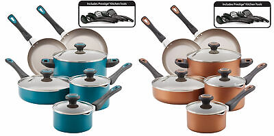 16 Piece Nonstick Starter Pots Pans Set Cookware Kitchen Cooking 5 qt Dutch Oven