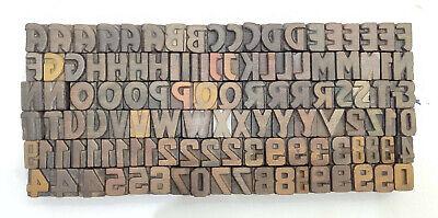 Vintage Letterpress Woodwooden Printing Type Block Typography 116 Pc17mm Lb126
