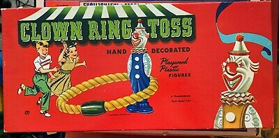 1940s Jewelry Styles and History RARE 1940s CLOWN RING TOSS A Transogram Gold Medal Game  $34.99 AT vintagedancer.com
