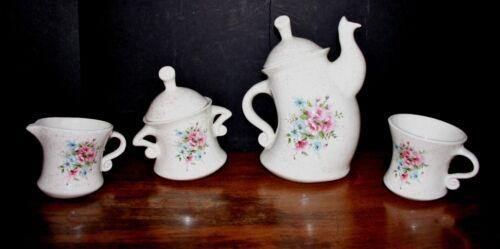 2013 WHIMSICAL Tea Set Ceramic Teapot Pot Set Mayco Coffee Set