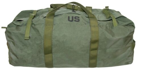 OD Green Military Style Duffel Bag - Tactical Deployment Flight & Sea Bag