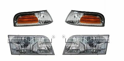 FIT FOR 1998 1999 2000 2001 FORD CROWN VICTORIA HEADLIGHT & CORNER RIGHT LEFT ()