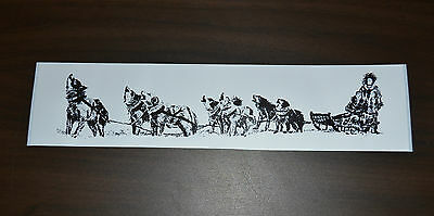 PRINTED STICKER SLED DOG TEAM SIBES MUSH HUSKY MALAMUTE SLED DOG SPIRIT VEHICLE