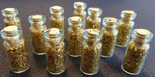12 Large 2ml Bottles of Gold Leaf Flakes ..... Lowest price online !!