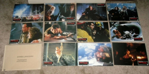 DIE HARD original RARE 1988 set of 22 glossy finish lobby cards BRUCE WILLIS