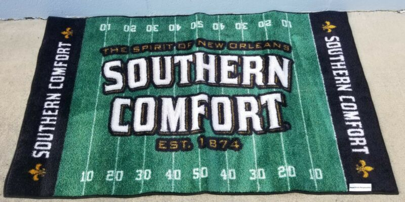 """Southern Comfort Whiskey Floor Welcome Mat Area Rug Football Field 55"""" x 32"""" NEW"""