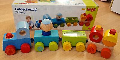 HABA Entdeckerzug Pfiffikus 7098, Holzspielzeug, Baby,Kleinkind Spielzeug, TOP!!