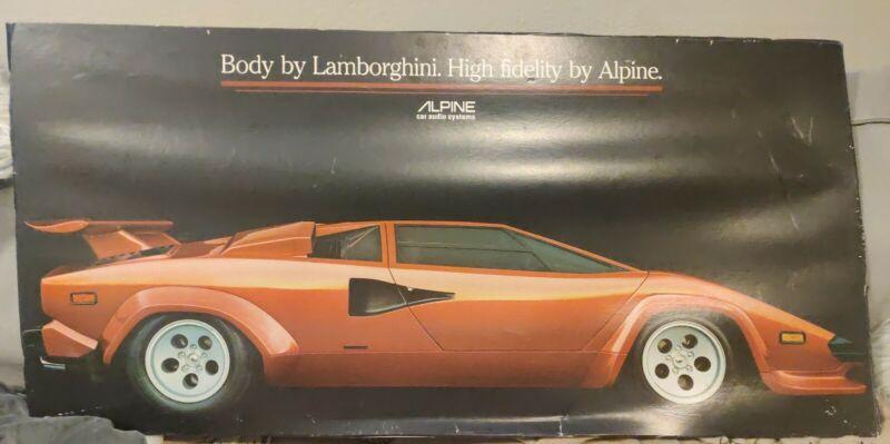 VTG 1981 BODY Lamborghini Countach HIGH FIDELITY ALPINE Poster Semirigid 36x18in