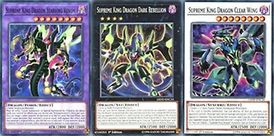 Rares Supreme King Dragon Starving Venom cotd Fusion: Clear Wing, Dark Rebellion