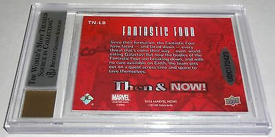 STAN LEE MARK BAGLEY 2014 Marvel Now and Then Dual Autograph Signatures BGS 9 💎 3
