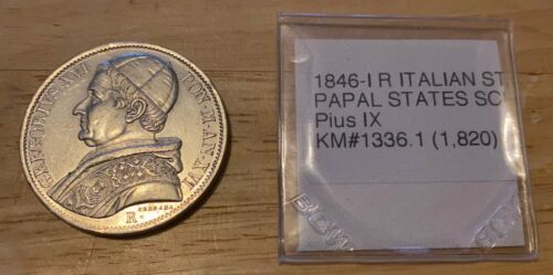 1846-I R Italian States Papal States SCUDO KM#1336.1