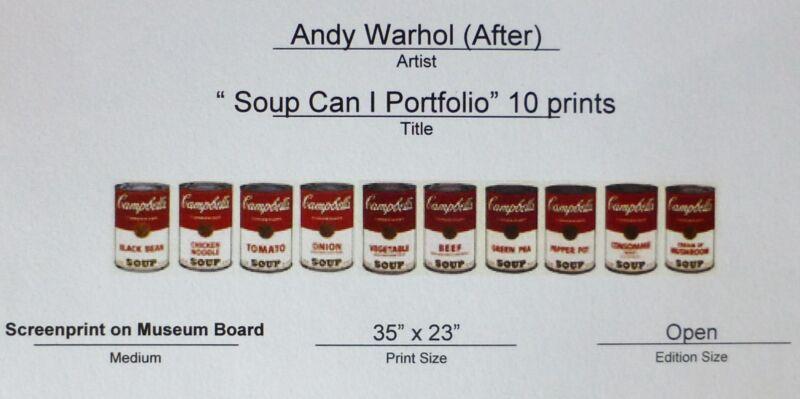 Andy Warhol 10 X Campbells