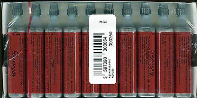 10 Dupont-Gas Feuerzeug ROT S.T.Dupont ORIGINAL Ampullen Kartuschen (#188)