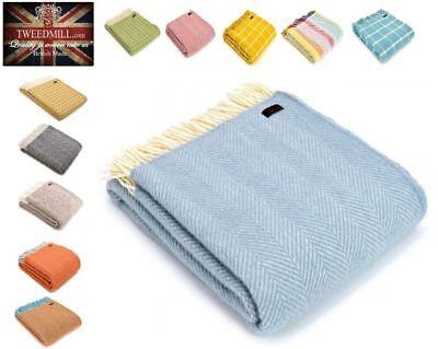 Tweedmill 100% Pure Wool Large Luxury Sofa Bed Blanket Throw, Made in UK