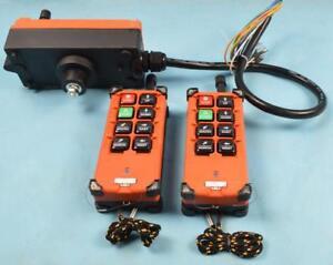 110v-2 Transmitters 8 Channels Hoist Radio Remote Controller 190080