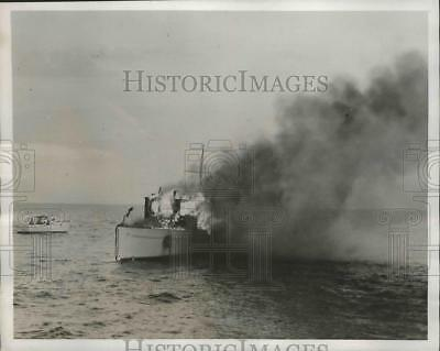 1941 Press Photo The 85-Foot Yacht Venture on Trial Run by Owner Dr Carl Pepper