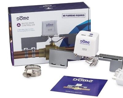 New DMWV1 Dome Home Automation Z-Wave Examination Valve for Pipes up to 1-1/2 in.