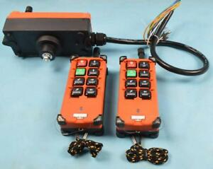 110v-2 Transmitters 8 Channels Hoist Radio Remote Controller 190080