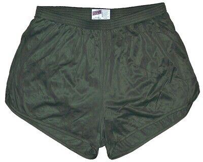 Olive Drab Nylon Ranger Panties Silkies Running Track Shorts
