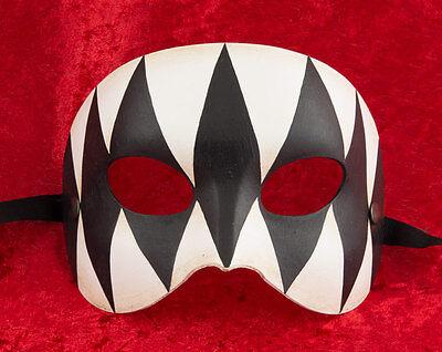 Mask from Venice Colombine Harlequin Opera in Paper Mache 2129 -V12b