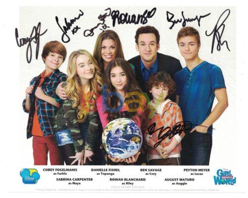 Girl Meets World Cast Signed Autographed 8x10 Photo Ben Savage Rowan Blanchard r