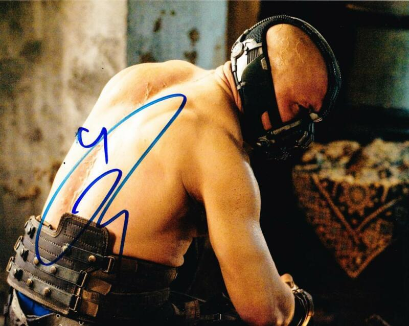 TOM HARDY SIGNED 8X10 PHOTO AUTHENTIC AUTOGRAPH THE DARK KNIGHT BANE COA A
