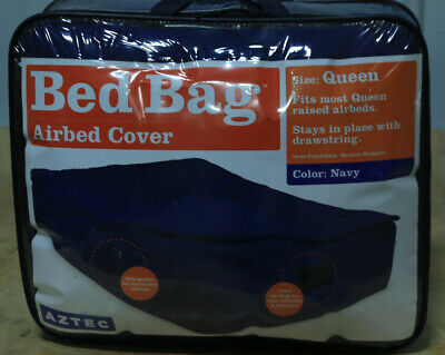 Aztec Queen Raised Air Mattress Cover 60/40 Poly/Cotton Navy