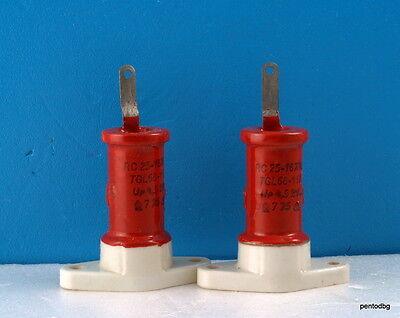 2pcs Rft Draloric Standard Capacitor Rc16x40 25pf 4.5kv 4.2kva Arms-5a