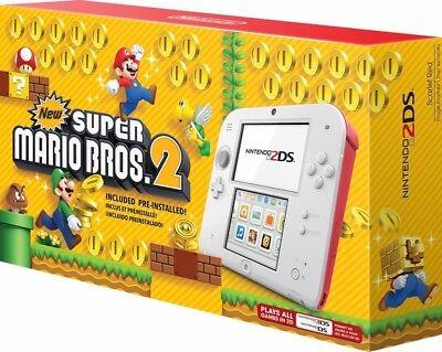 New Nintendo 2DS Scarlet Red + 30 games/gifts bundle Zelda Pokemon Mario