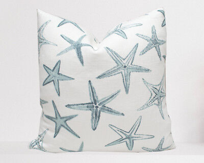 Starfish Pillow Cover - Starfish Vista Harbor Linen | Nautical Sea Coastal Blue