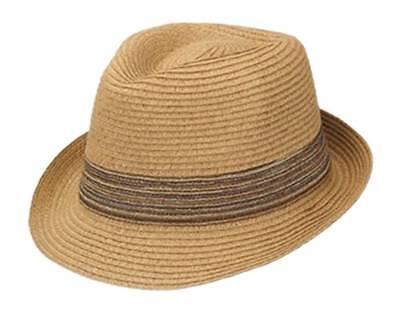 Peter Grimm's Hawn Fedora Hat, Tan Small/Medium (Peter Grimm Fedora)