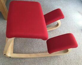 Varier Balans Genuine Original Kneeling Chair - Ergonomic Posture Stool - Wood