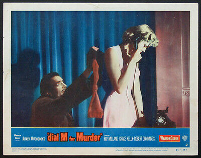 DIAL M FOR MURDER HITCHCOCK GRACE KELLY MURDER SCENE 1954 LOBBY CARD #2