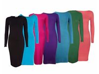 JOB LOT LONG SLEEVE BODYCON MIDI DRESSES. NEW AND UNUSED. IDEAL FOR RETAIL/WHOLESALE!