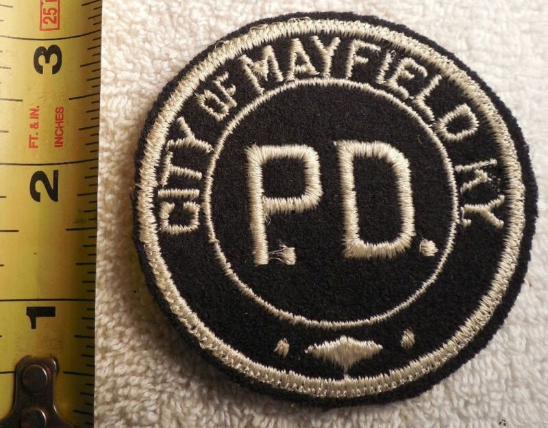 MAYFIELD KENTUCKY POLICE PATCH (EMS, HIGHWAY PATROL, STATE POLICE, SHERIFF)
