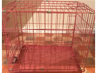 CAT OR PUPPY CAGE PINK CAN DELIVER
