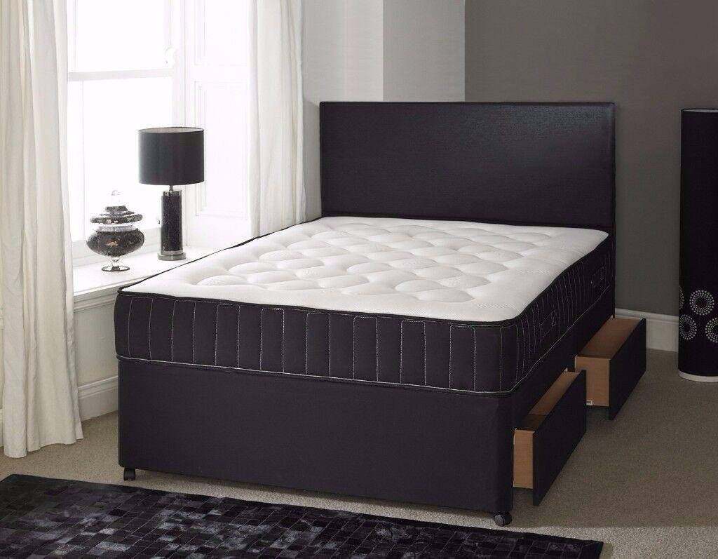 🔥💥Memory Foam Set🔥💥 Brand New Double / King Divan Bed W/ 13inch Memroy Foam Orthopaedic Mattress