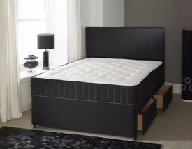 Cheapest Price Guaranteed== Brand New Double Divan Base With Memory Foam sprung Mattress