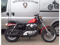 BEAUTIFUL CLASSIC 1991 HARLEY DAVIDSON XLH883 HUGGER LOW MILEAGE, SU CARB, 2 OWNERS